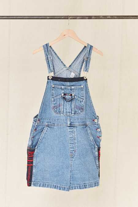 Vintage B.U.M. Equipment Embroidered Denim Overall Short