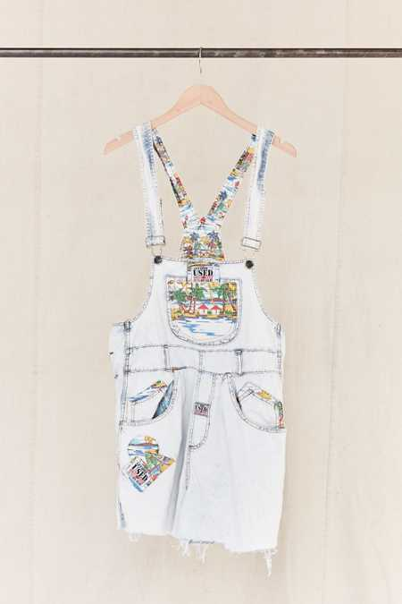 Vintage '80s Tropical Destination Overall Short