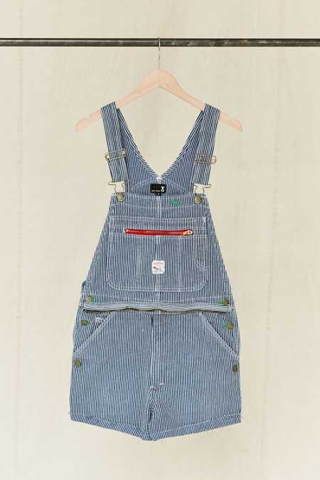 Vintage Pointer Brand Railroad Stripe Overall Short