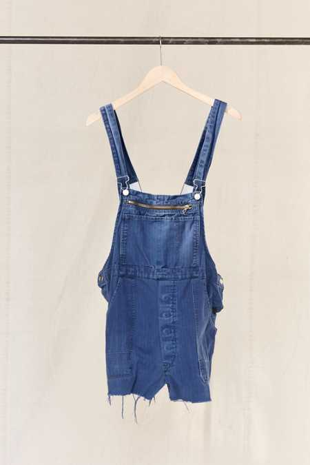 Vintage Workwear Overall Short