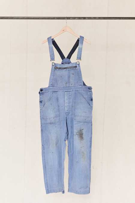Vintage Washed Blue Workwear Overall