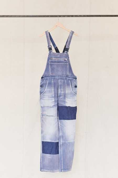 Vintage Purple Patched Workwear Overall