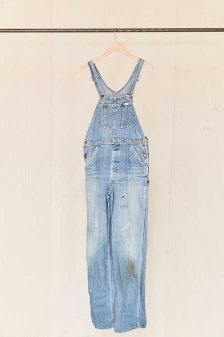 Vintage Lee Medium Wash Denim Overall
