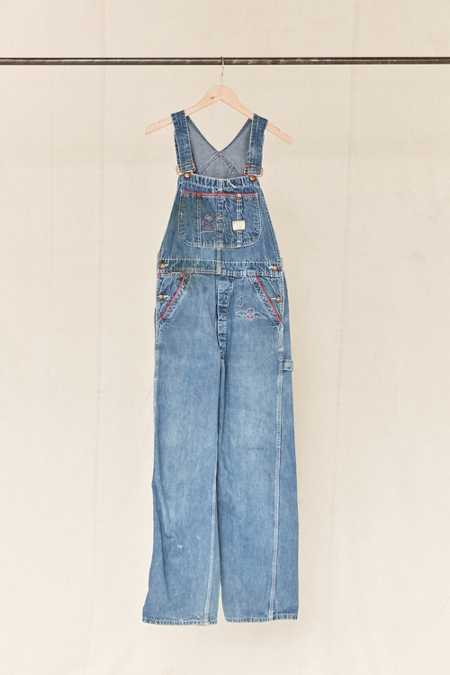 Vintage Embroidered Denim Overall