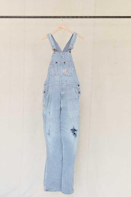 Vintage Roundhouse Railroad Stripe Overall