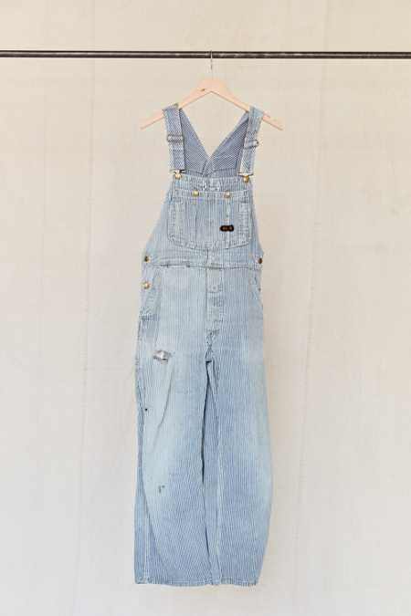 Vintage Big Mac Railroad Stripe Denim Overall