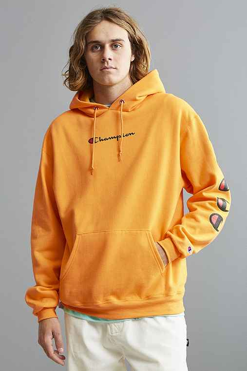 Champion Repeat Eco Hoodie Sweatshirt,GOLD,M