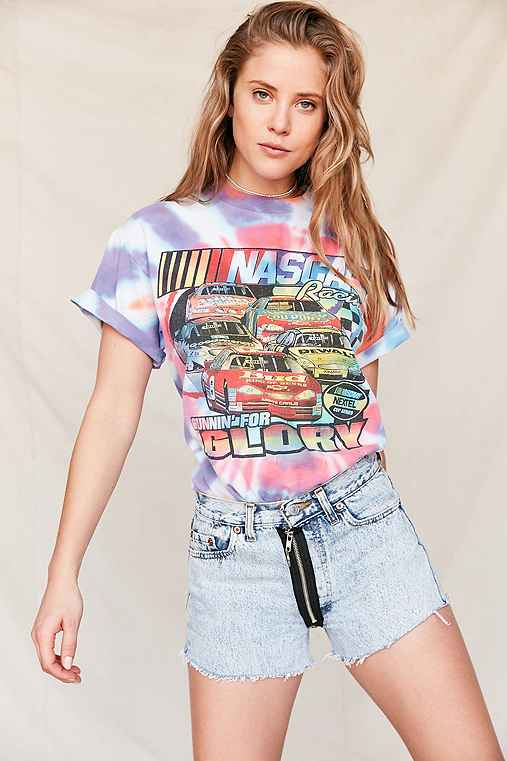 Vintage NASCAR Tie-Dye Tee,ASSORTED,ONE SIZE
