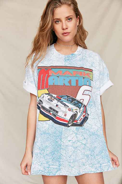 Vintage '90s Mark Martin NASCAR Tee,ASSORTED,ONE SIZE