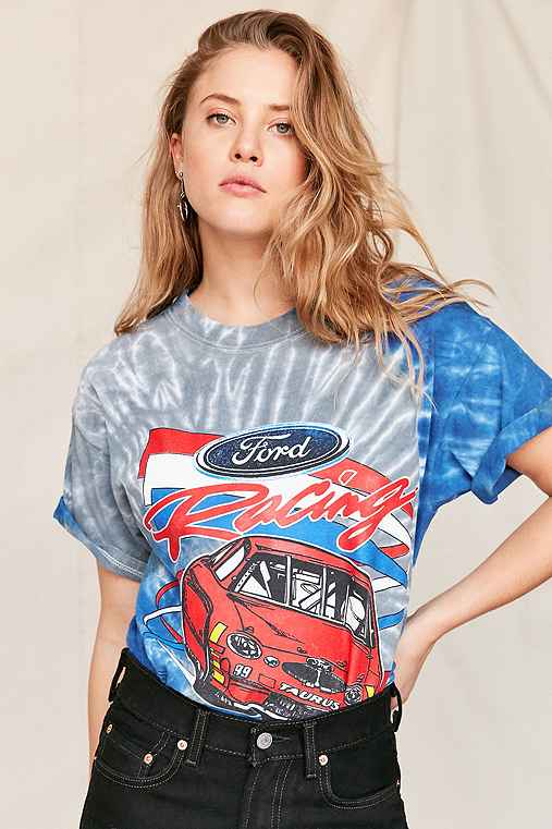 Vintage Ford Racing Tie-Dye Tee,ASSORTED,ONE SIZE