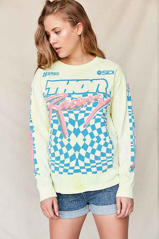 Vintage '90s Thor Racing Team Long Sleeve Tee,ASSORTED,ONE SIZE