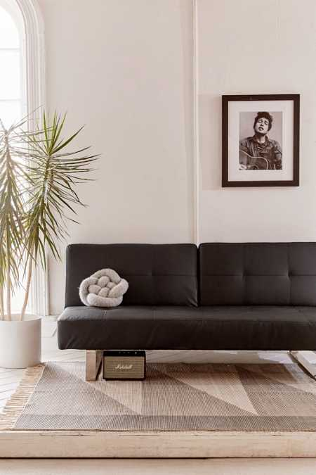 Lucia Vegan Leather Sleeper Sofa