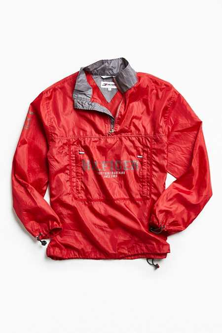 Vintage Tommy Hilfiger Red '90s Prep Sport Windbreaker Jacket
