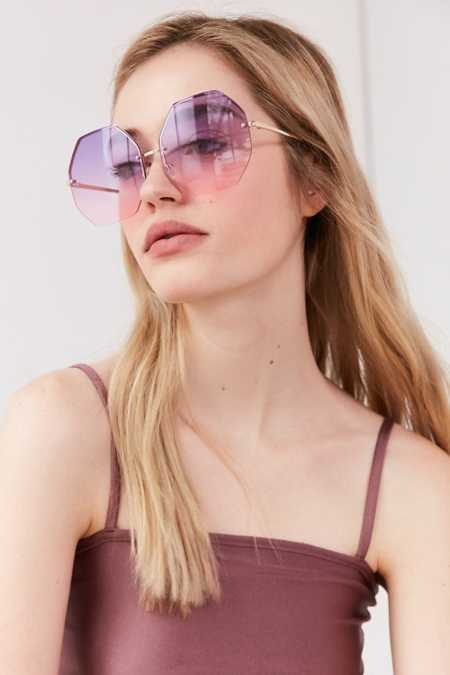 Oversized Octagonal Sunglasses