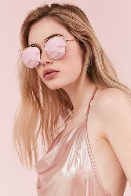 Simone Metal Aviator Sunglasses