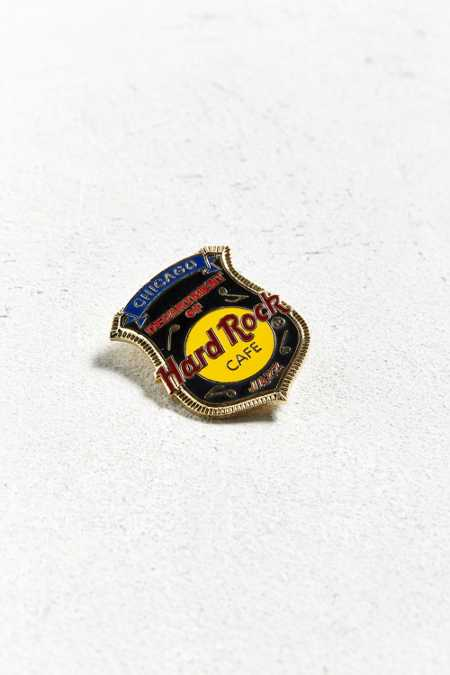 Vintage Hard Rock Cafe Chicago Badge Pin