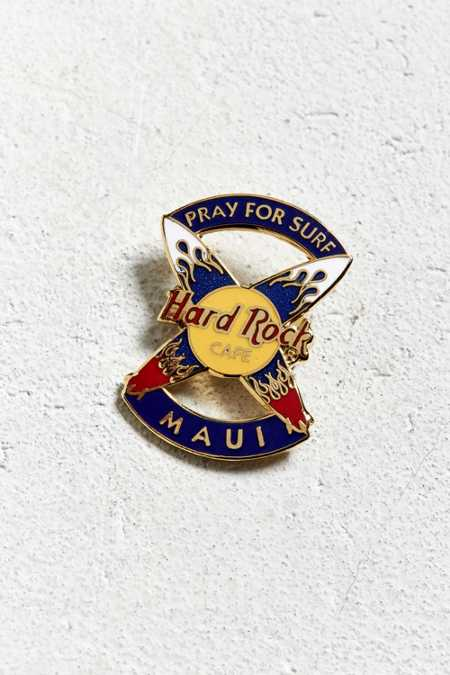 Vintage Hard Rock Cafe Pray For Surf Maui Pin