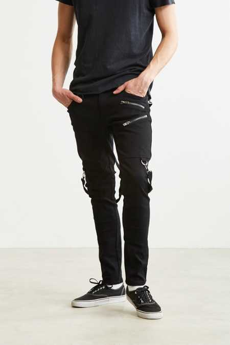 Tripp NYC Zippered Strap Skinny Pant