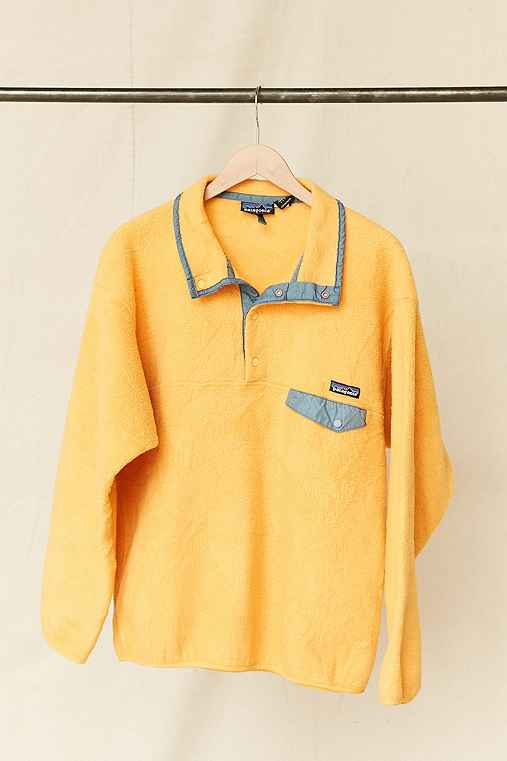 Vintage Patagonia Yellow Fleece Pullover Jacket,ASSORTED,ONE SIZE