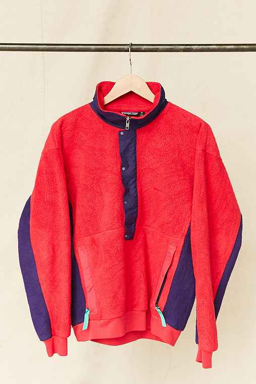 Vintage Patagonia Pink + Purple Colorblock Fleece Pullover Jacket,ASSORTED,ONE SIZE