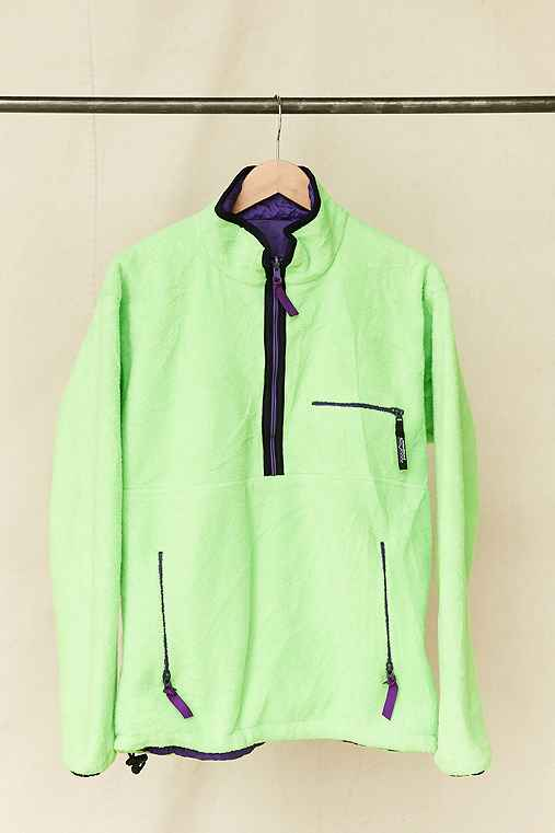 Vintage Patagonia Lime Green Fleece Pullover Jacket,ASSORTED,ONE SIZE