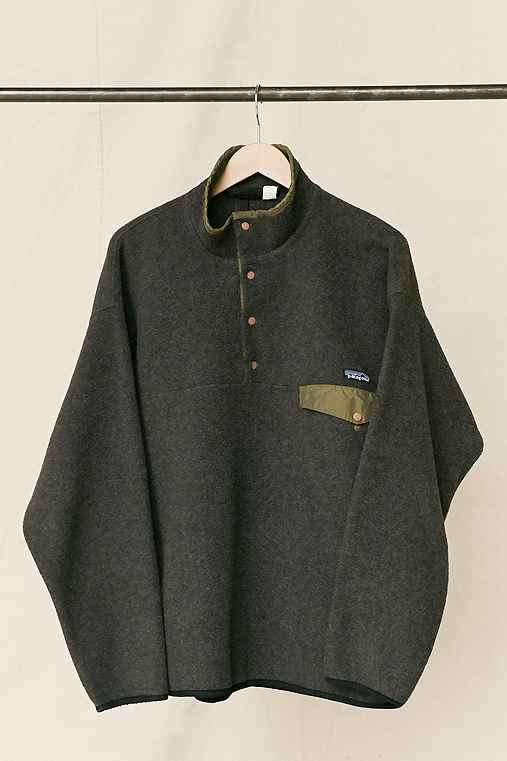 Vintage Patagonia Charcoal Fleece Pullover Jacket,ASSORTED,ONE SIZE