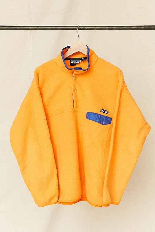 Vintage Patagonia Orange Fleece Pullover Jacket,ASSORTED,ONE SIZE