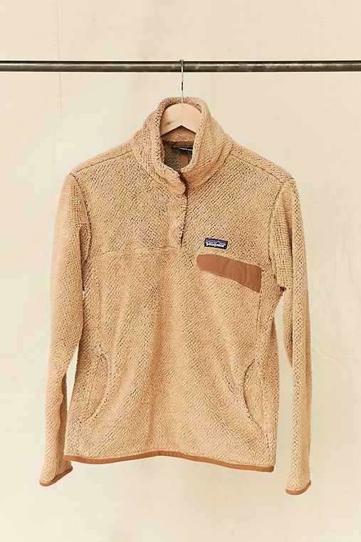 Vintage Patagonia Tan Textured Fleece Pullover Jacket,ASSORTED,ONE SIZE