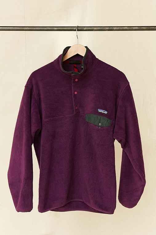 Vintage Patagonia Deep Purple Fleece Pullover Jacket,ASSORTED,ONE SIZE