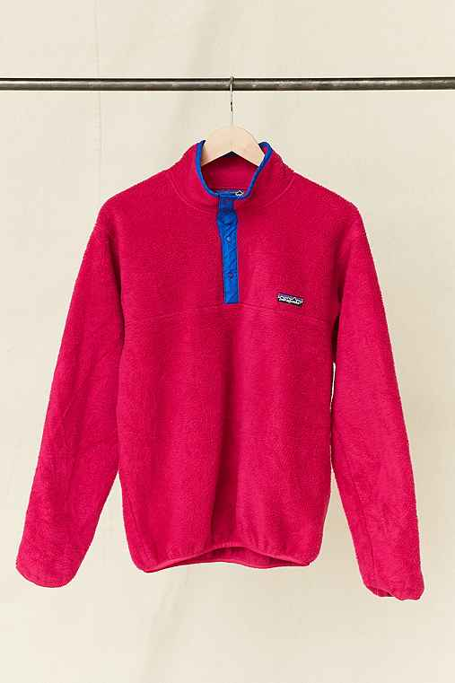 Vintage Patagonia Fuchsia Fleece Pullover Jacket,ASSORTED,ONE SIZE