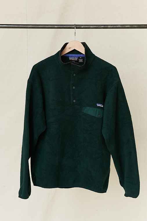 Vintage Patagonia Forest Green Fleece Pullover Jacket,ASSORTED,ONE SIZE