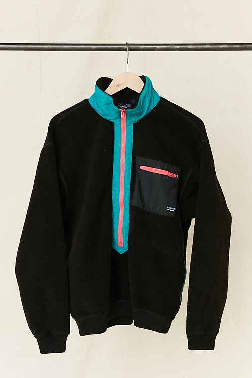 Vintage Patagonia Black Fleece Pullover Jacket,ASSORTED,ONE SIZE