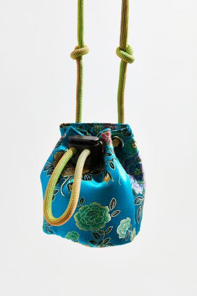 Satin Mini Bucket Bag