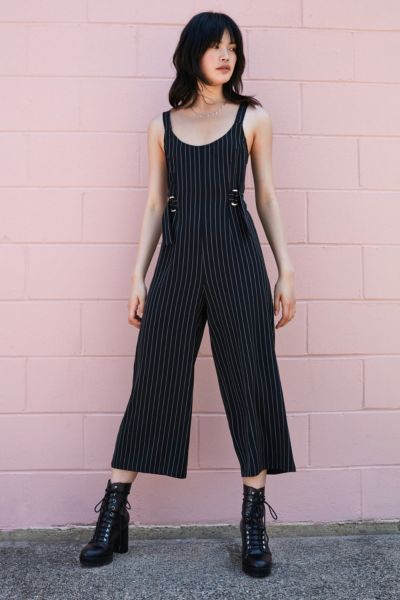 Silence + Noise Wide Leg Buckle Jumpsuit