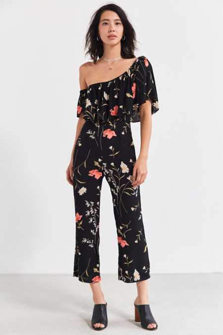 Flynn Skye Claire One-Shoulder Ruffle Jumpsuit