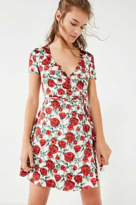 Wyldr Cherry Rose Mini Wrap Dress