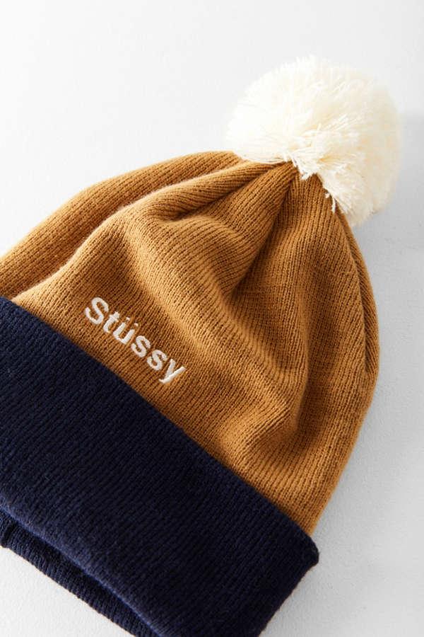3b9281803e52e Stussy Helvetica Pompom Beanie Urban Outfitters