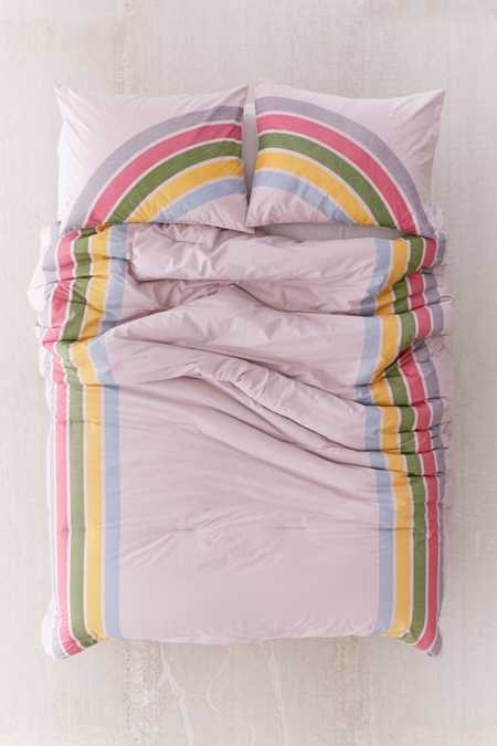 Rainbow Striped Comforter