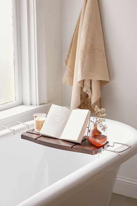 Me Time Bamboo Bath Tray Caddy