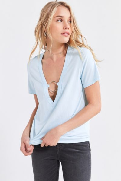 Truly Madly Deeply O-Ring V-Neck Tee
