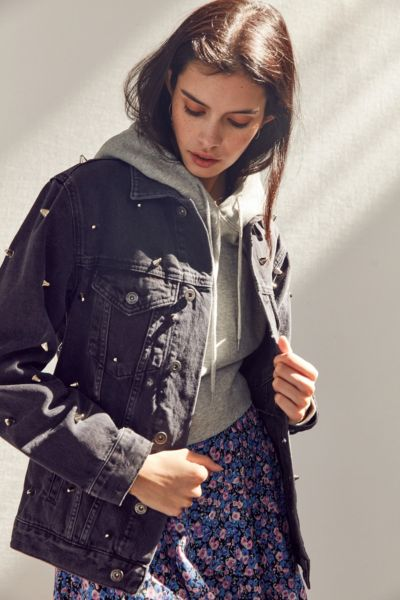 The Ragged Priest Magpie Studded Denim Jacket