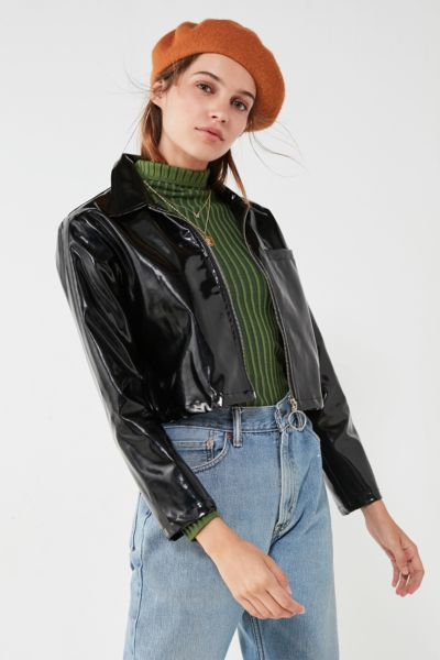 UNIF Gia Patent Cropped Jacket