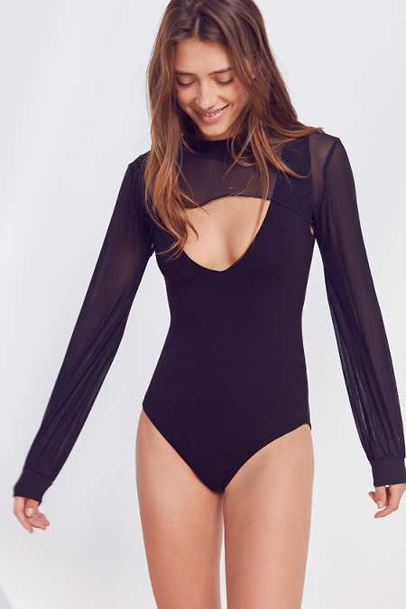 Out From Under Liza Mesh Sleeve Bodysuit