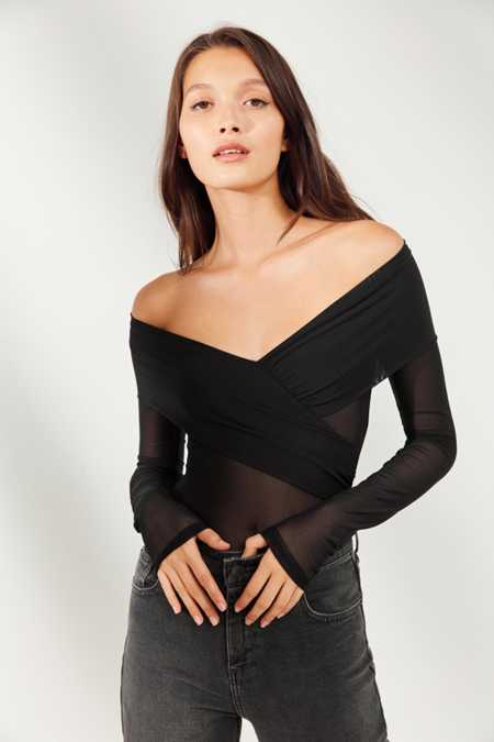 Out From Under Isabel Crossover Mesh Bodysuit
