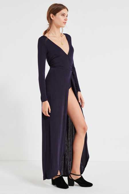UO Studio Bodysuit Wrap Maxi Dress
