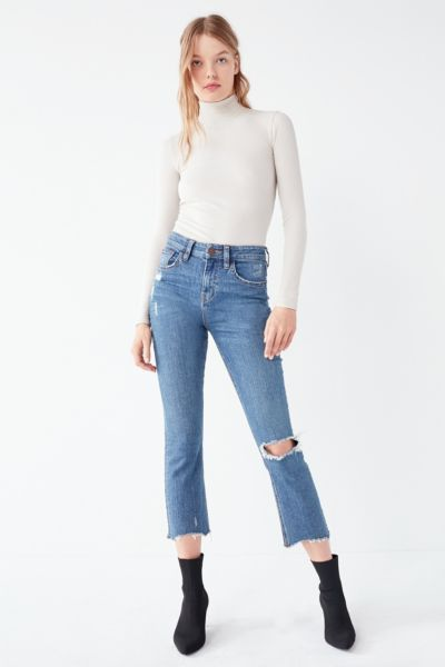 BDG Kick Flare High-Rise Cropped Jean  Distressed