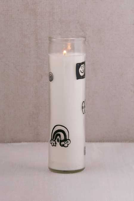 Zine Dream Glass Pillar Candle