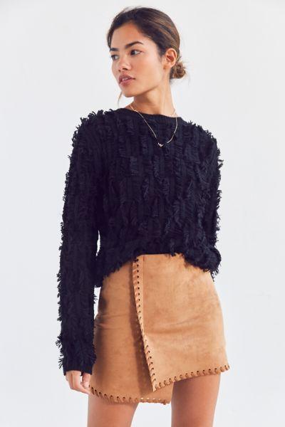 Haute Rogue Allison Whip Stitch Wrap Skirt