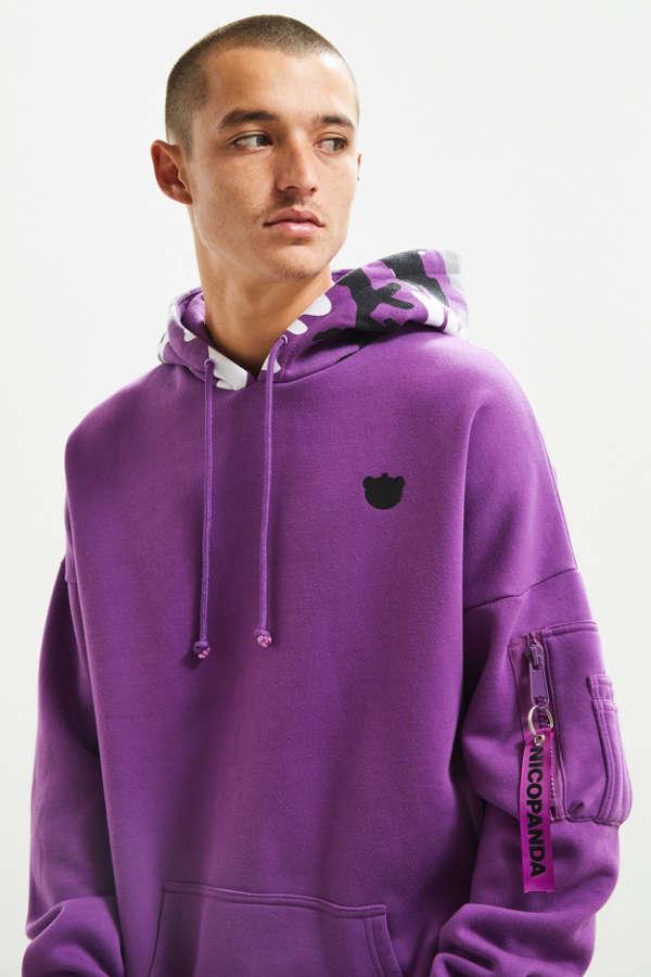 Hoodie Champion Triple Script Urban Weave Reverse Sweatshirt UzVSMpGq