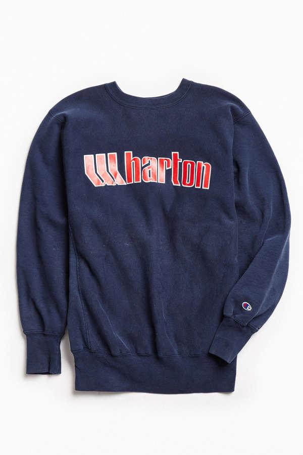 3d97021f Vintage Wharton Crew Neck Sweatshirt Urban Outfitters | 2019 trends ...